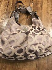 Coach MAGGIE MADISON GRAY Handbag NO.F0973-14305 OP ART SIGNATURE SATEEN