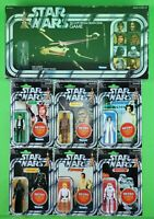 "2019 STAR WARS RETRO COLLECTION WAVE 1 (6-FIGURE SET & TARKIN GAME) 3.75"" MINT!"