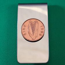Irish Celtic Harp Coin Money Clip, Bronze Penny (Decimal) Ireland