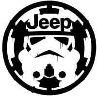 Jeep Star Wars Storm Trooper over Empire Sticker Vinyl Decal Car Laptop Window