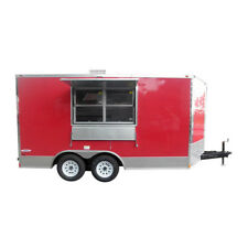 Concession Trailer 8.5'x14' Red - Event Food Catering Vending