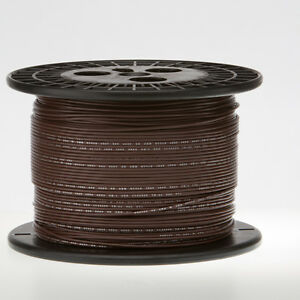 """18 AWG Gauge Solid Hook Up Wire Brown 500 ft 0.0403"""" UL1007 300 Volts"""