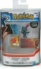 """Pokemon 2-Pk Small 2"""" Toy Plastic Action Figure - Fennekin vs. Sneasel"""