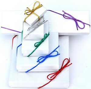 """50pc Metallic Stretch Loops Gift Wrapping Elastic Cord w/ Bow ~COLOR & 6"""" to 22"""""""