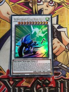 Hi-Speedroid Clear Wing Rider led8-en006 1st Edition (NEW) Ultra Rare Yu-Gi-Oh!