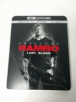 Rambo Last Blood 4K Ultra HD Region A Bluray Digital 2019 New with slip cover.