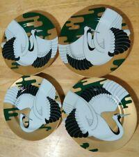 "4 Golden Tancho Stork Fitz & Floyd Salad Plate Bird Collector 7.5"" Discontinued"