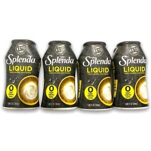 4 Splenda Liquid Keto Sweetener 1.68 Fl Oz Zero Calories, Carbs & Sugar Ex 10/22