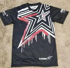Usbc Bowling Jersey Shirt Men's Medium M Black Red White Storm Ebonite Star Pk