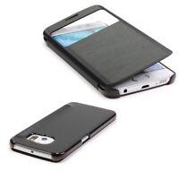 Samsung Galaxy S6 Edge View Case Sichtfenster Cover Handy Schutz Hülle Tasche