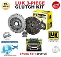FOR SKODA YETI 5L 2.0 TDi 4x4 2009-ON CLUTCH KIT LUK 3 PIECE 240mm DIAMETER