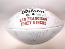 Jerry Rice Steve Young Brent Jones 1996 49ers Team Autographed Signed Football