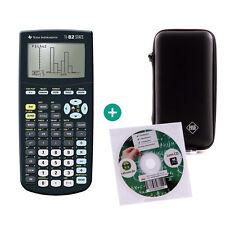 TI 82 Stats Taschenrechner Grafikrechner + Schutztasche und Lern-CD