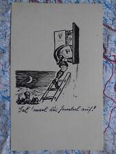 Karikatur witzig Spruch Gemälde Kunstwerk Postkarte Ansichtskarte 3009