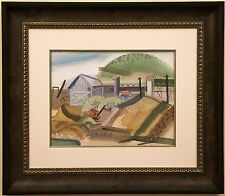 RARE California Modernist JOHN HALEY Berkeley School Gouache - Watercolor