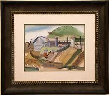 RARE California Modernist JOHN HALEY Berkeley School Gouache - Watercolor