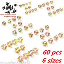 60pc 6-15mm 6 Size Fuel Line Hose Spring Clip Water Pipe Air Tube Clamp Fastener