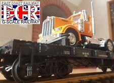 G SCALE 45mm GAUGE FLATBED & CLASSIC NewRay KENWORTH TRUCK RAILWAY GARDEN TRAIN
