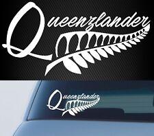 Queenzlander NZ AOTEAROA NEW ZEALAND KIWI FERN Car 4x4 STICKER