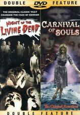 NIGHT OF THE LIVING DEAD AND CARNIVAL OF SOULS DOUBLE FEATURE DVD NEW SEALED