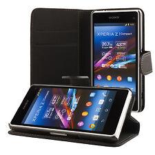 Sony Xperia Z1 compact mini Coque de protection Housse Pochette wallet Case noir