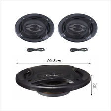 2x 6.5 Car Speakers Powerful Subwoofer Stunning Wild Durable 12V 80W Pure Sound