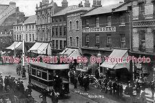 BK 54 - Reading Street Scene, Berkshire c1903 Tram etc - 6x4 Photo