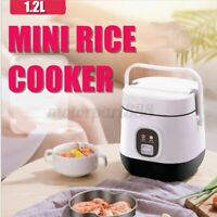 1.2L Mini Portable Electric Rice Cooker For 2-3 Person Student Small Pot & Spoon