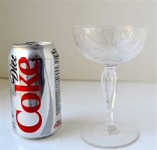 """8 TIFFIN FRANCISCAN CRYSTAL SHERBETS GLASSES """"PARKWOOD"""" PATTERN 50's DISCONTINU"""