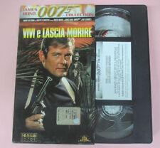 VHS film VIVI E LASCIA MORIRE 007 James Bond collection FABBRI (F29) no dvd