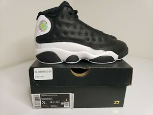 New Nike Air Jordan Retro 13 Kids Preschool Size 3Y Black Red White 414575-061