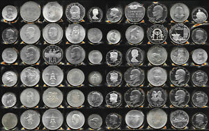 60 BIG SILVER OLD WORLD COINS > BU BEAUTIES!! >  39.6 TrOz Gross Wt > NO RESERVE