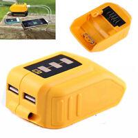 For DEWALT Battery DCB090 12V 20V Li-Ion 2 USB Phone Charger Adapter