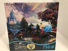 "Ceaco/Thomas Kinkade/Disney ""Cinderella Wishes Upon a Dream   750 Pcs   PUZZLE"