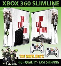 Xbox 360 Slim pegatina el mal en horror 001 supervivencia de la piel y 2 Pad Skins