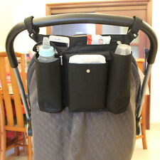 kids Baby Stroller safe Console Tray Pram Hanging Bag/cup holder/accessory Black