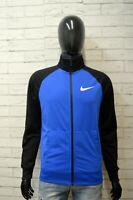 Felpa Uomo NIKE Taglia S Maglione Nero Sweater Slim Cardigan Casual Pullover Blu