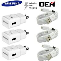 Original Samsung Galaxy S6 S7 Edge Note4 5 OEM Fast Wall Charger Micro USB Cable