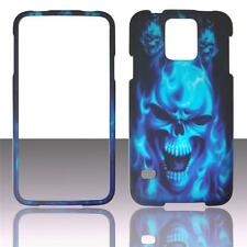 For  Samsung Galaxy S5 i9600 Skull Fire Case Hard Snap On Cover