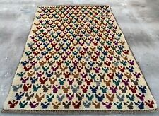 Authentic Hand Knotted Afghan Balouch Wool Area Rug 5 x 3 Ft (370 Hm)