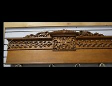 ARCHITECUAL SALVAGE LARGE FRENCH CROWN MOLDING CREST VICTORIAN WOOD PEDIMENT