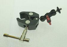 "Double Ballhead Adapter Mount 1/4"" Screw  with Mini Crab Clamp"