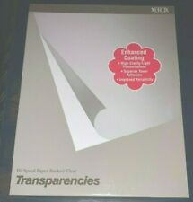 Xerox Hi-speed Paper-backed Clear Transparencies Laser Printer DocuTech