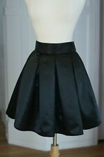 Henri Bendel Womens Black Bubble Pleated Skirt Sz 8 Mini with Pockets