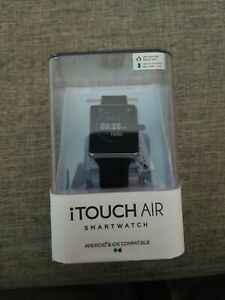 iTOUCH Air Smart Watch Special Edition Bluetooth Android IOS Black Rubber Strap