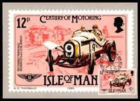 ISLE OF MAN MK 1985 AUTOS OLDTIMER CARS BENTLEY MAXIMUMKARTE MC CM ab02
