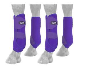 Tough-1 Sports Medicine Boots- 4PK Extreme Vented- Size Large- Color: Purple