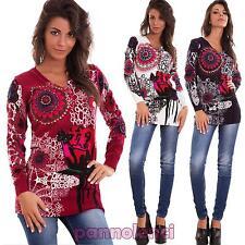 Maglione donna pullover maniche lunghe strass perline maxi maglia nuovo 969-MOD