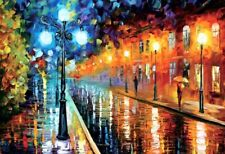 1000 Pieces Adult Puzzle Rainy Night Street Lights Jigsaw Educational Toys Gift