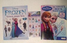 DISNEY FROZEN Word Search Puzzle DK Ultimate Sticker Book + Sandy Lion Stickers